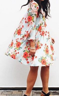 Paper Crown + Rifle Paper Co. swing dress
