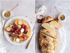 Domowa chałka z cynamonową kruszonką - przepis Czekoladą utkane French Toast, Breakfast, Food, Morning Coffee, Essen, Meals, Yemek, Eten