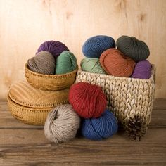 This yarn is amazing. Not only is it gorgeous, bulky and great to work with (so says my mother...I'm not a knitter yet), but it's made entirely from recycled fibers that otherwise would have been discarded. Hooray for reducing waste!
