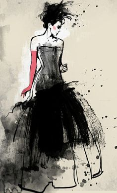 love this ink illustration! So beautiful!