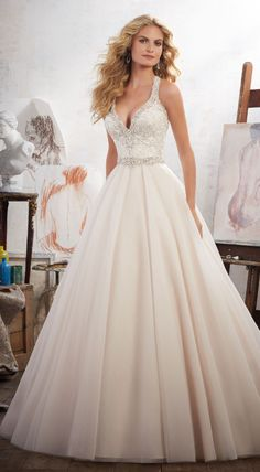 Morilee wedding dress. Click to see more dresses from this collection.