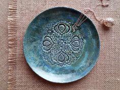 weiße keramik schale, schmuck schale, juwelen aufbewahrung, ring ... - Trkise Wand