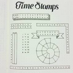 time stamps to track in my bujo Planner Bullet Journal, Bullet Journal Junkies, Bullet Journal Spread, Bullet Journal Layout, My Journal, Bullet Journal Inspiration, Journal Pages, Bullet Journals, Journal Notebook