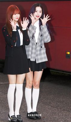 Wonyoung & Minju: Happy Together recording. Yu Jin, Happy Together, Starship Entertainment, 3 In One, Kpop Girls, Girl Group, Dancer, Korea, Cute Outfits
