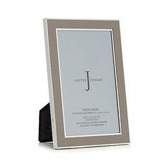 J by Jasper Conran Designer grey enamel photo frames | Debenhams