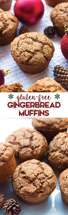 Gluten-Free Gingerbread Muffins are the perfect way to enjoy holiday cookie flavor for breakfast, without the guilt!