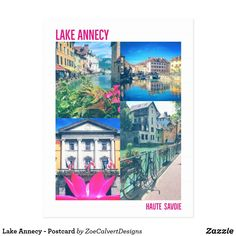 Shop Lake Annecy - Postcard created by ZoeCalvertDesigns. Lake Annecy, France Photography, French Alps, Bubbles, Polaroid Film, Creative, Image