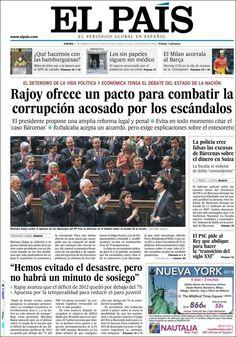 Los Titulares y Portadas de Noticias Destacadas Españolas del 21 de Febrero de 2013 del Diario El País ¿Que le parecio esta Portada de este Diario Español?