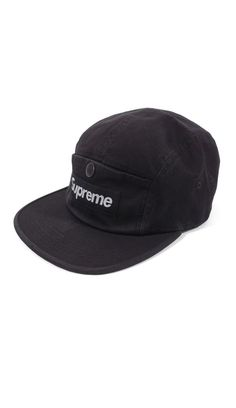 Hats · Supreme Snap button Pocket Camp Cap Black NEW FW18  fashion   clothing  shoes   8f7005601a16