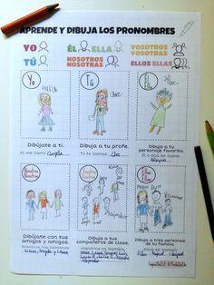 Foto pronombres y verbo llamarse