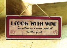 wine sign -