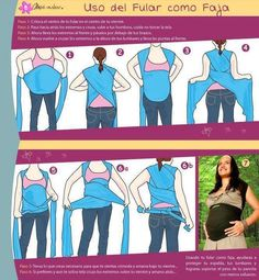 Don't wait until your bebe arrives to use your Moby wrap (you can also make an easy homemade version) this is a cool diagram of how to wrap your belly in the later stages of pregnancy to relieve the weight of the bebe and give your poor aching ligaments some relief.