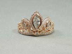 Rapunzel 925 Silber Rotgold Tiara Princess Ring von AOSDESIGN