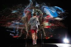 NIKE.  The sports giant has created an installation to show how technologies may heighten the adventure of running