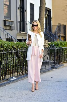 Pastel pink pants | theglitterguide.com