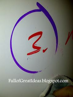 getting permanent marker off of dry erase boards...4 methods tested!
