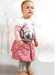Little Wings Baby girl outfit..cord skirt, leggings and top!