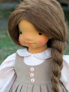 Waldorf doll Neža - 18'' Waldorf inspired doll by SNezinka on Etsy https://www.etsy.com/listing/501782235/waldorf-doll-nea-18-waldorf-inspired