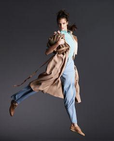 "Chez Agnes - www.chezagnes.blogspot.com  Maggie Jablonski in ""Wide-leg Trousers That Wow"" byTerry GatesforHow to Spend It Magazine,January 2014"