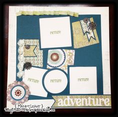 Scrapbook layout using the CTMH ARTbooking Cricut Cartridge {created by Mandy Leahy}