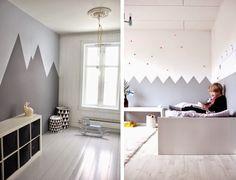 paredes con siluetas de relieve de montaas para los peques