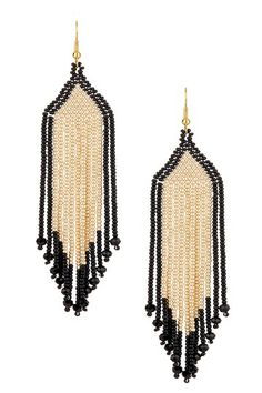 I need to get my bead loom out, so could make these: Montecito Earrings by Josefina De Alba on @HauteLook