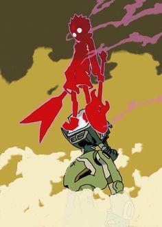 Fooly Cooly by erkksville. Hail the pirate king! Character Inspiration, Character Art, Character Design, Manga Art, Anime Art, Anime Kunst, Mecha Anime, Estilo Anime, Awesome Anime