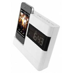 iPhone and iPod clock radio dock Audio Speakers, Digital Alarm Clock, Iphone 4, Ipod, Accessories, Link, Ipods, Jewelry Accessories