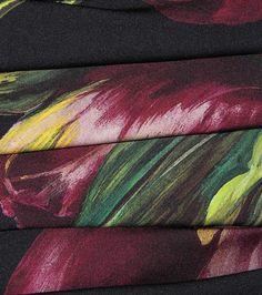 Black and purple printed silk dress