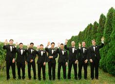 An October Wedding at Martha Clara Vineyards by, Lindsay Madden Photography / Groomsmen in Vera Wang