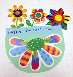 Happy Mother's Day Bouquet for Mother's Day. Uses colorful Poppin' Pattern flowers. Mothers Day Crafts, Happy Mothers Day, Preschool Ideas, Craft Ideas, Mother's Day Bouquet, Creative Teaching Press, Early Childhood Education, Mother And Father, Project Yourself