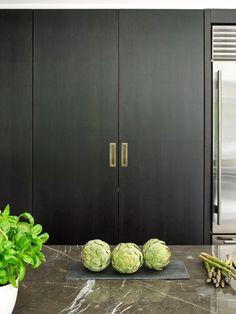 Matrix Bespoke - American Black Walnut Cabinetry - Stainless Steel - Pocket Door Unit - Breakfast Unit - Sub Zero Fridge Freezer - Wolf Range Cooker - Grey Marquina Worktop - Industrial - Unique - Antique Bronze Handles