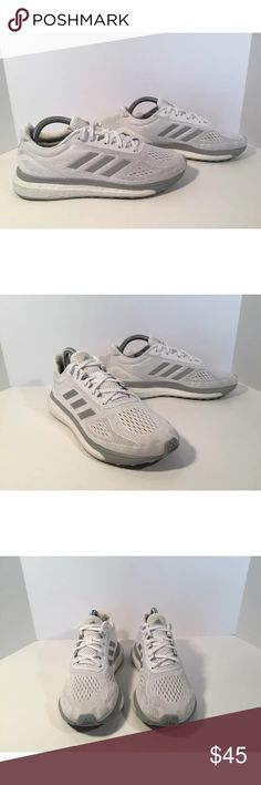 Adidas response sonic drive Item details:   -adidas brand  -in good condition, has some green marks on the boost  -Women's Size 7  -I ship next day  -Grey and white  -sonic drive  -boost technology  -no insoles   Please let me know if you have any questions. adidas Shoes Athletic Shoes