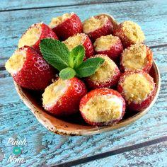 Low Syn Cheesecake Stuffed Strawberries | Slimming World