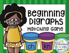 Play Dough Beginning Digraphs Matching Game with Differentiation ~ This engaging activity will help your students match beginning digraphs (ch, kn, ph, sh, th, wh, and wr) with 42 corresponding pictures using colorful play dough graphics! Grades K-2, special ed, EIP, and ESOL ~ http://www.thevivaciousteacher.com
