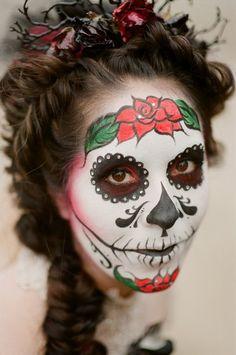 Coolest Day of the Dead Costumes (La Catrina) Holidays Halloween, Scary Halloween, Halloween Make Up, Halloween Crafts, Halloween Face Makeup, Halloween Costumes, Halloween Ideas, Holiday Crafts, Holiday Ideas