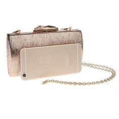 Grace Rose Gold Clutch ❤ liked on Polyvore featuring bags, handbags, clutches, rose gold clutches, rose gold handbag, beige handbags, beige clutches and beige purse