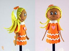 naranja naranjita, el color de la alegría...morenita y muy coqueta......en Rosecat-Handmade