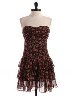 Floral Strapless Dress by Express - Size M - $19.95 on LikeTwice.com