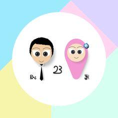 #cartoon #shocking #colorful #yellow #green #blue #purple #design #logo #romantic #hijab #couple #2D #pastel #torquise #cute #yunitakarrtika #wallpaper Intagram: @yunitakarrtika