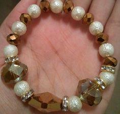 Mocha Latte Hottie Beaded Bracelets by RandRsWristCandy on Etsy, $8.00