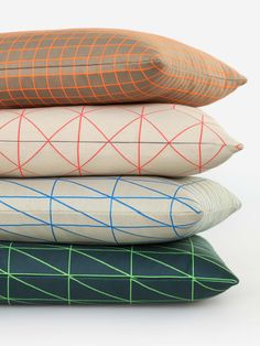 Bright Grid, Cube, and Angle Pillows by Scholten & Baijings, 2016. http://maharam.com/shop/pillows