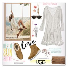 """""""Play With Prints In UGG: Contest Entry"""" by rosie305 ❤ liked on Polyvore featuring UGG Australia, Calypso St. Barth, Forever 21 and thisisugg"""
