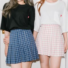 Graph Check Pleated Mini Skirt | MIX X MIX | Shop Korean fashion casual style clothing, bag, shoes, acc and jewelry for all
