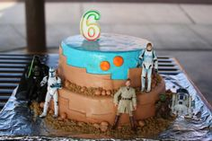 star wars birthday cake tatooine   ... was bound to do a star wars cake along the way this cake was chosen