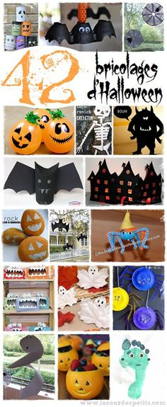 To keep the kids busy during this week of vacation, find my selection of 42 Halloween crafts, from 0 to 10 years old (and up! Fröhliches Halloween, Holidays Halloween, Halloween Treats, Christmas Crafts For Kids, Holiday Crafts, Manualidades Halloween, Diy Halloween Decorations, Magick, Toussaint