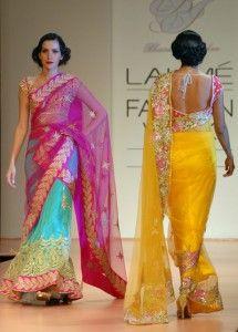 Sari on the left!!! Lakme Fashion Week