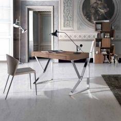 Porto Lujo- Vela- Contemporary Study Desk in Walnut and Steel Bureau Design, Contemporary Office Desk, Contemporary Furniture, Modern Home Offices, Study Desk, Decoration, Office Furniture, Modern Design, Sweet Home