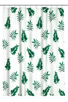 Patterned shower curtain - White / Leaf - Home All |  H & M SE 2