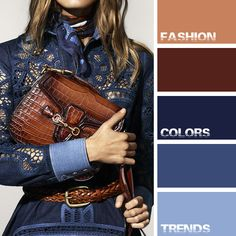 Stunning Shades Of Sepia, Tobacco, Chambray, Cornflower & Navy Blue.